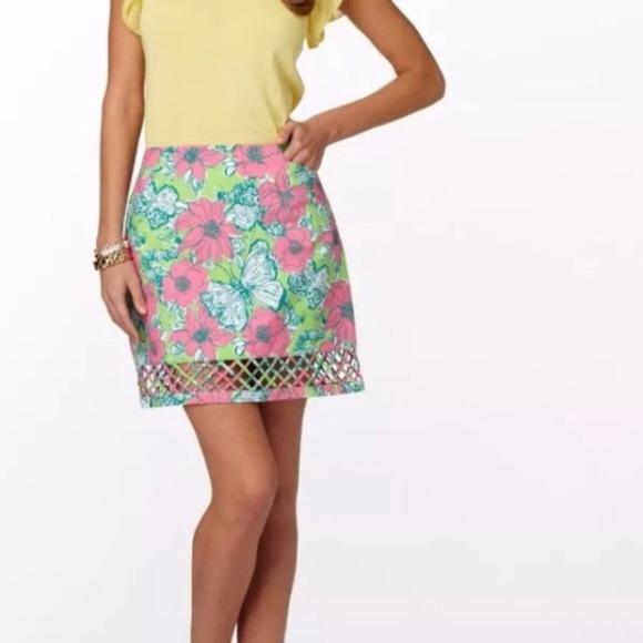 adbac917031 Lilly Pulitzer Skirts   Bloomin Floral Roslyn Lattice Skirt   Poshmark
